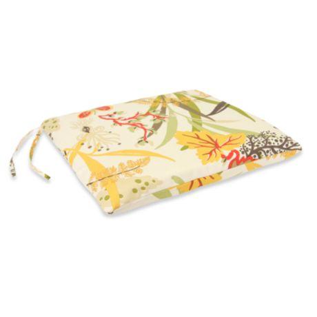 Outdoor Seat Pad Cushion In Fishbowl Seaweed Bed Bath Amp Beyond
