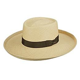 Scala™ Men's Handwoven Panama Gambler Hat in Natural