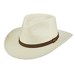 Scala™ Men's Panama Straw Outback Hat in Natural