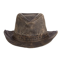 Scala Indiana Jones Weathered Fedora in Brown