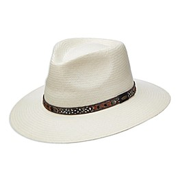 Scala™ Men's Toyo Straw Outback Hat in Ivory