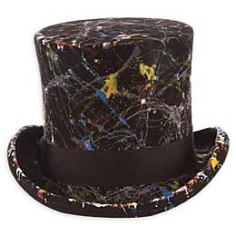 Scala™ Men's Painted Wool Felt Top Hat in Black