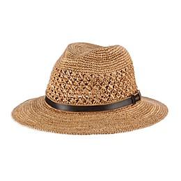 Scala™  Fine Raffia Fedora Hat in Tea