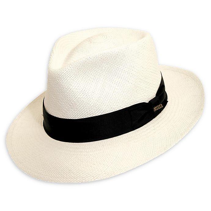bb4110a54 Scala™ ® Men's C-Crown Panama Hat in White   Bed Bath & Beyond