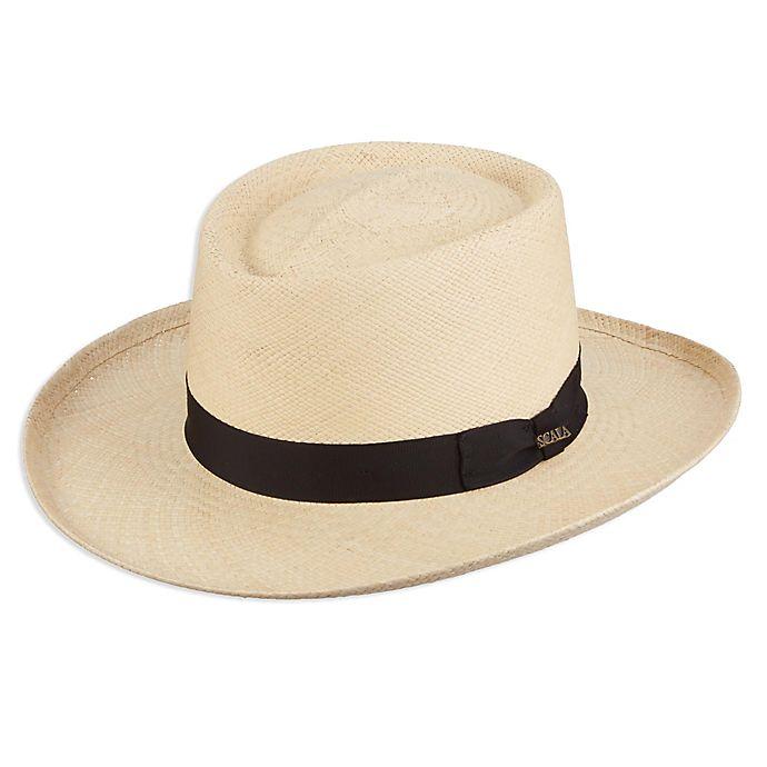 Alternate image 1 for Scala™  Medium Panama Gambler Hat in Natural
