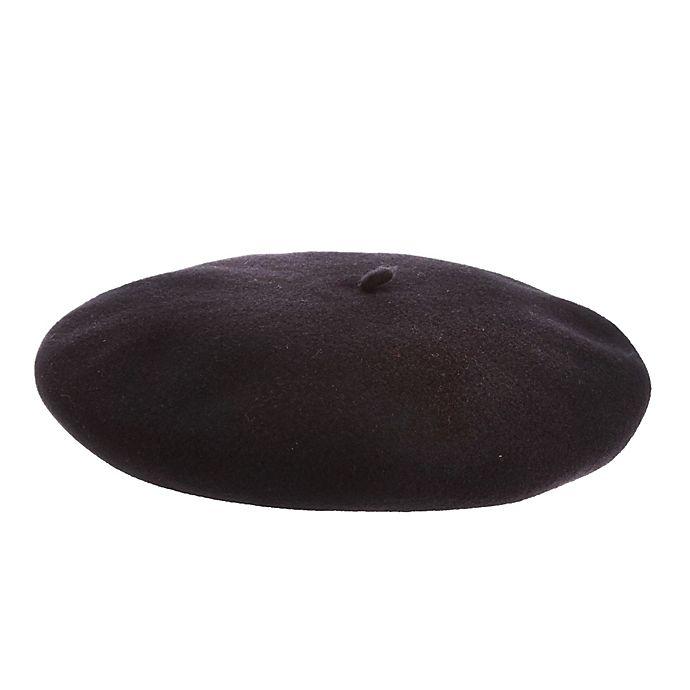 Alternate image 1 for Scala™  Medium Basque Beret Hat in Black
