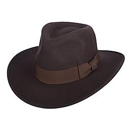 Scala Classic Indiana Jones Crush Wool Felt Hat in Brown
