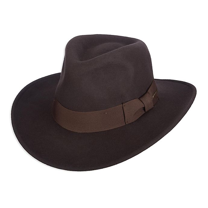 Alternate image 1 for Scala X-Large Classic Indiana Jones Crush Wool Felt Hat in Brown