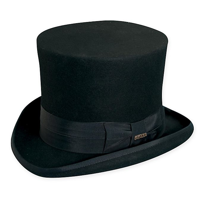 Alternate image 1 for Scala™  X-Large Classic Wool Felt Top Hat in Black