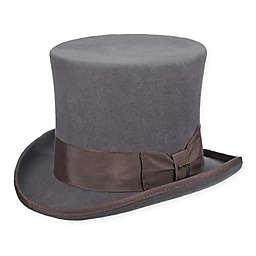 Scala™  Large Classic Wool Felt Top Hat in Grey