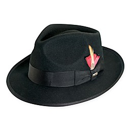 Scala™  Wool Felt Fedora with Feather