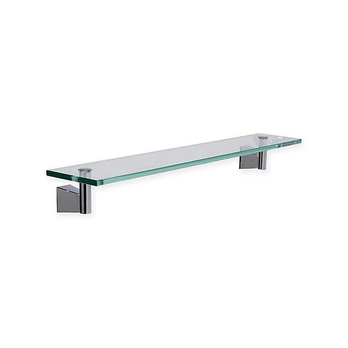 Alternate image 1 for Gatco® Bleu Glass Shelf in Chrome