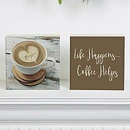 Coffee Helps Shelf Blocks (Set of 2)