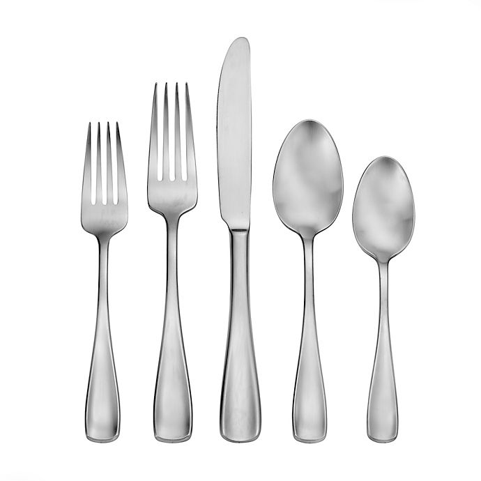 Alternate image 1 for Living by Robinson® Eastford Satin 50-Piece Flatware Set