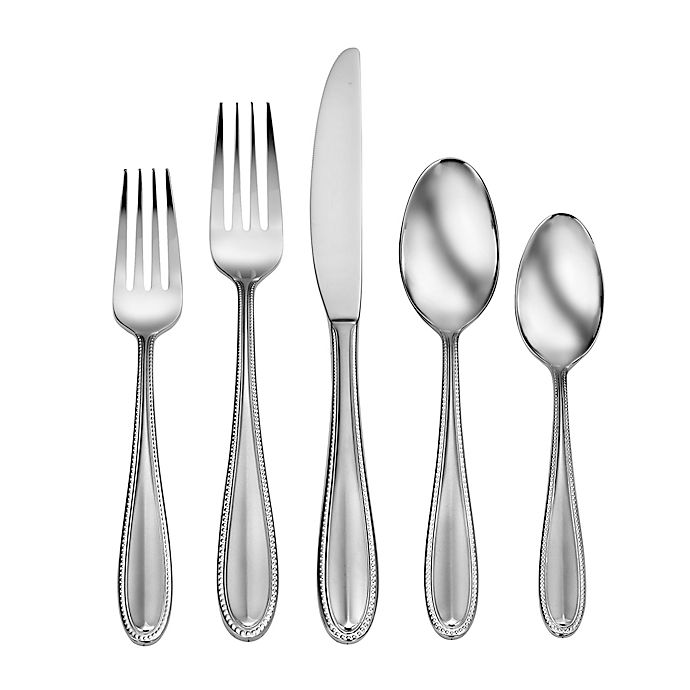 Alternate image 1 for Living by Robinson® Thayer 50-Piece Flatware Set
