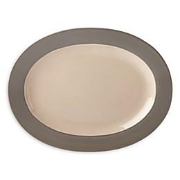 kate spade new york Nolita Grey™ 16.5-Inch Oval Platter