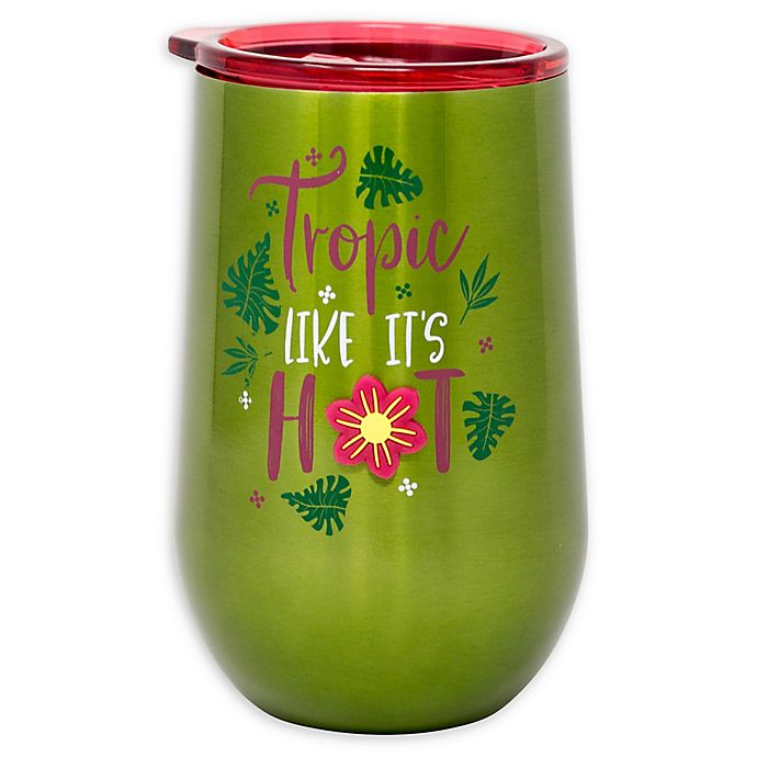 Alternate image 1 for Stainless Steel Tropic Like it's Hot Wine Tumbler