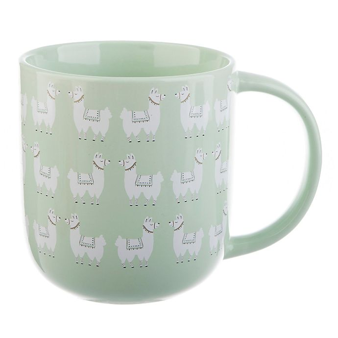 Alternate image 1 for Formations Playful Llamas Mug in Green