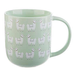 Formations Playful Llamas Mug in Green