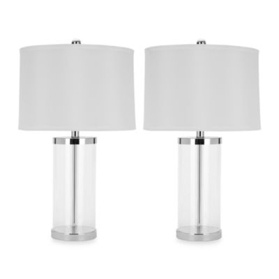Jeanie Glass Base Lamp Set Of 2
