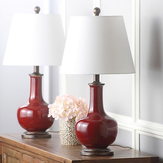 Alternate image 1 for Safavieh Carolanne Ceramic Table Lamp (Set of 2)