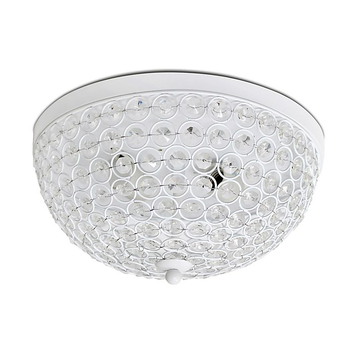Alternate image 1 for Elegant Designs Elipse Crystal 2-Light Flush Mount Ceiling Light