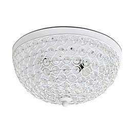 Elegant Designs Elipse Crystal 2-Light Flush Mount Ceiling Light