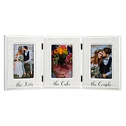 Malden® 3-Photo The Kiss The Cake The Couple Collage Picture Frame in White