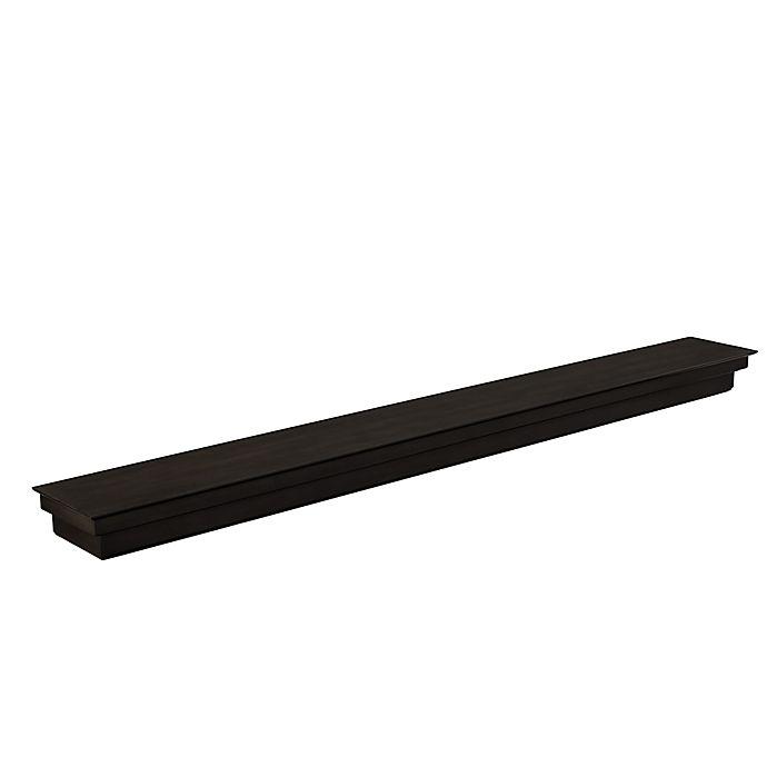 Alternate image 1 for Southern Enterprises Alberta 6-Foot Flotaing Mantel/Wall Shelf in Smoked Ash