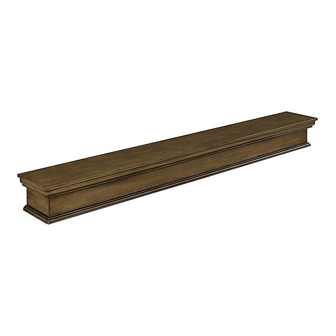Alternate image 1 for Southern Enterprises Adair 70-Inch Floating Mantel/Wall Shelf in Weathered Grey
