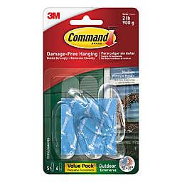 3M Command™ Clear Medium Outdoor Window Hooks (Set of 5)