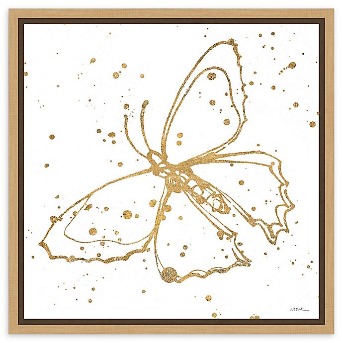 Alternate image 1 for Amanti Art Golden Wings II Framed Canvas Wall Art