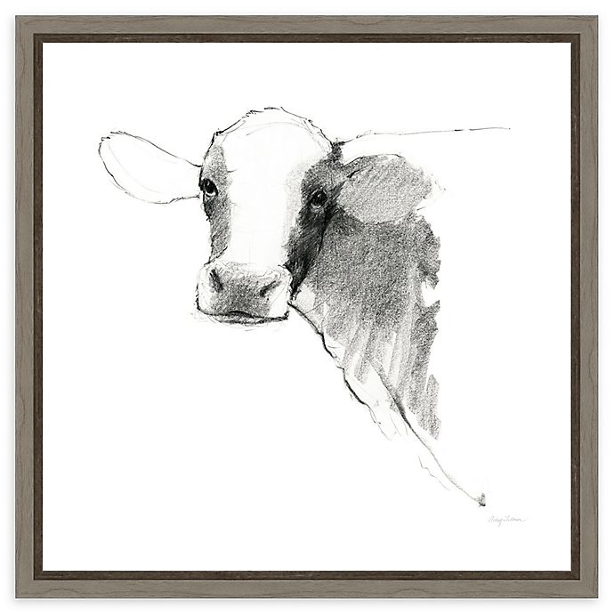 Alternate image 1 for Amanti Art® Animals 16-Inch Square Framed Canvas in Grey