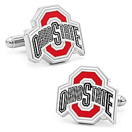 Ohio State University Silver-Plated and Enamel Cufflinks