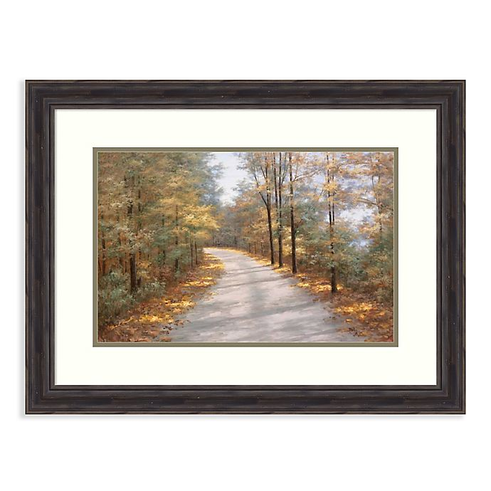 Alternate image 1 for Amanti Art® Walking In Fall 29.38-Inch x 22.38-Inch Acrylic Framed Print