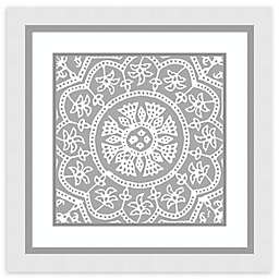 Amanti Art® Woodblock Pattern I 25-Inch Square Framed Wall Art in White