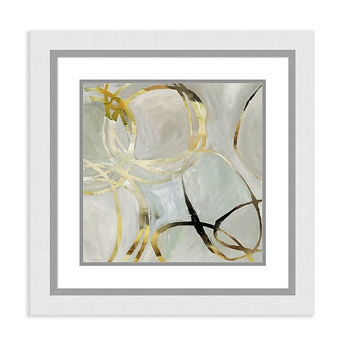 Alternate image 1 for Amanti Art® Tom Reeves Abstract 25-Inch Square Acrylic Framed Print in White