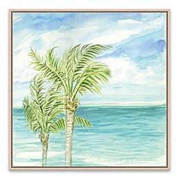 Refreshing Coastal Breeze I 18.88-Inch Square Framed Canvas Wall Art