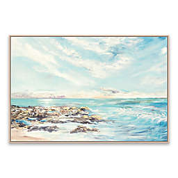 Into the Horizon Morning 37-Inch x 25-Inch Framed Canvas Wall Art