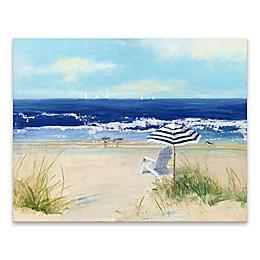 Beach Life II 28-Inch x 22-Inch Wrapped Canvas Wall Art