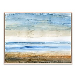 Seaside I 25-Inch x 19-Inch Framed Canvas Wall Art