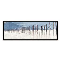 Blue Hidden Pier Panel 36.88-Inch x 12.88-Inch Framed Canvas Wall Art