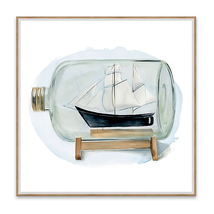 Alternate image 1 for Sail the Seas II 18.88-Inch Framed Canvas Wall Art