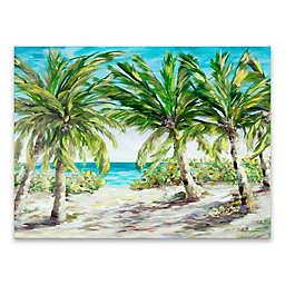 """Artissimo Designs """"Palm Escape"""" 18-Inch x 24-Inch Canvas Wall Art"""