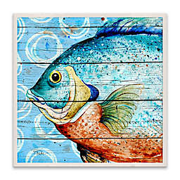 Water Fish 16-Inch Wood Wall Art