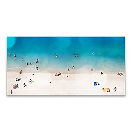Beach Goers 30-Inch x 15-Inch Wrapped Canvas Wall Art