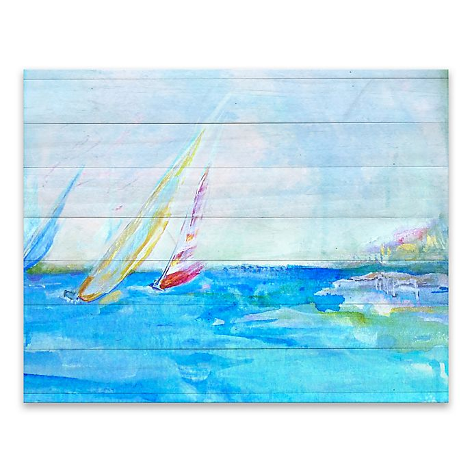 Alternate image 1 for Coastal Sailboats 28-Inch x 22-Inch Wrapped Canvas Wall Art