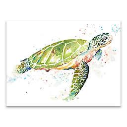 Sea Turtle II 24-Inch x 18-Inch Canvas Wall Art