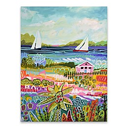 Two Sailboats and Cottage I 18-Inch x 24-Inch Canvas Wall Art