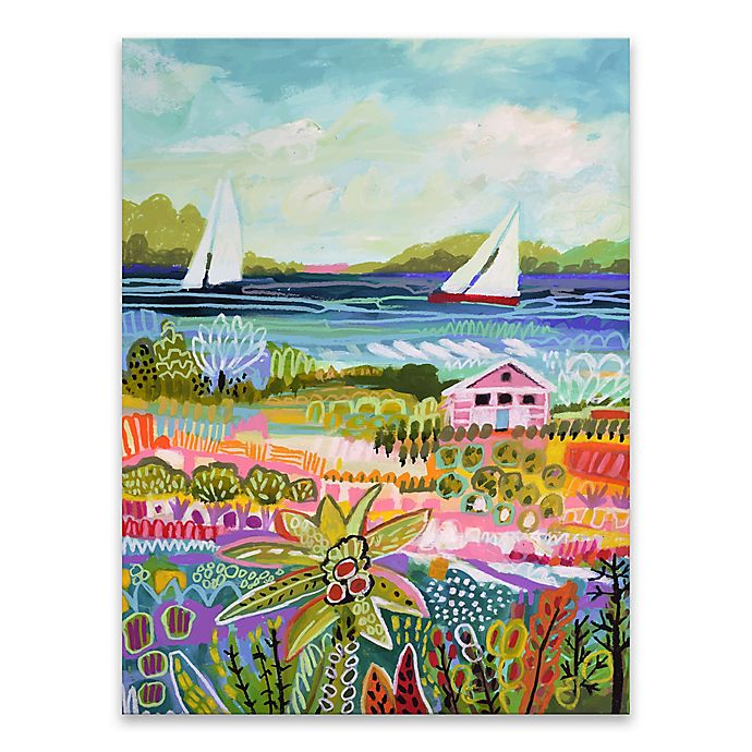 Alternate image 1 for Two Sailboats and Cottage I 18-Inch x 24-Inch Canvas Wall Art
